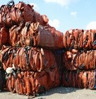 HDPE drums, mixed colors, in bales