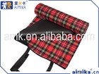 polyester fleece picnic rug for camping classic check mat wholesale