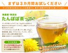 special organic dandelion tea for woman and by all ages
