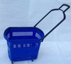 RJ-F09 Hot Sale Plastic Shopping Basket with Wheels Good quality shopping basket