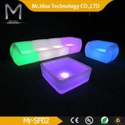 2014 cheap rechargeable waterproof remote control multi-color led sofa