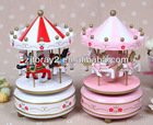 Hot sale Spinning Carousel music box and beautiful wooden handicrafts