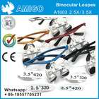 Surgical Binocular Loupes A1003 2.5X/3.5X 5 color - Dental Loupe