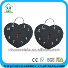 slate heart shaped wall clock with hanging rope