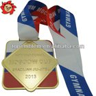Customized zinc alloy medallion with sublimated ribbon