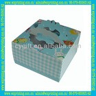 custom high quality PVC window paper cake box with handle