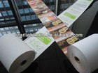 thermal paper with printing
